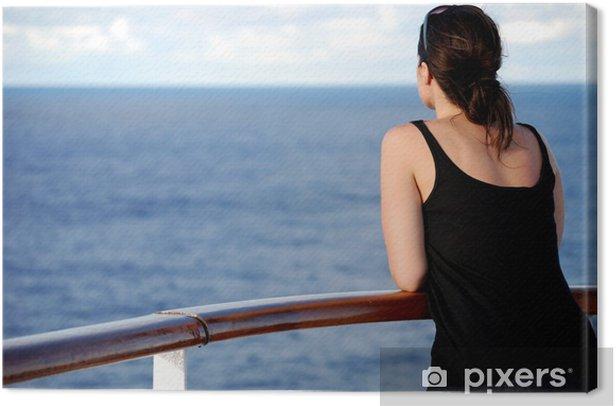 Cuadro En Lienzo Mujer Mirando Al Mar Vista Posterior Pixers Vivimos Para Cambiar