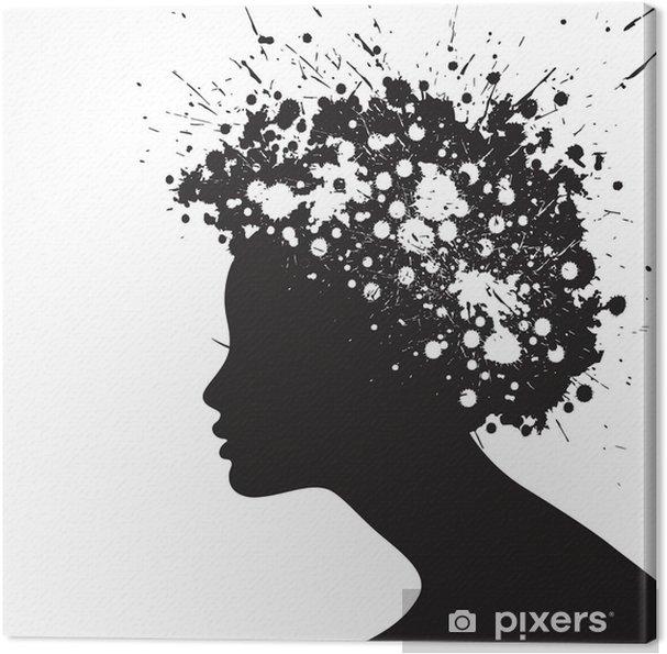 Cuadro en Lienzo Mujer silueta de la cara • Pixers® - Vivimos para ... b437fc5f8cc