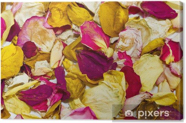 como utilizar petalos de rosa secos