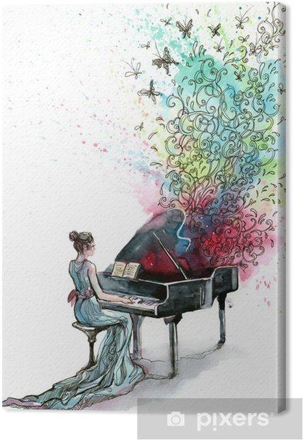 Cuadro en Lienzo Música de piano de cola (serie C) - Jazz