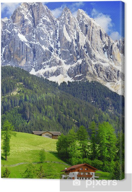 Cuadro en Lienzo Naturaleza impresionante de los Dolomitas. Alpes italianos - Europa