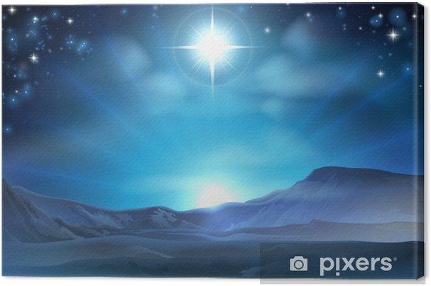 Cuadro en Lienzo Navidad de la natividad de la estrella de Belén - Temas