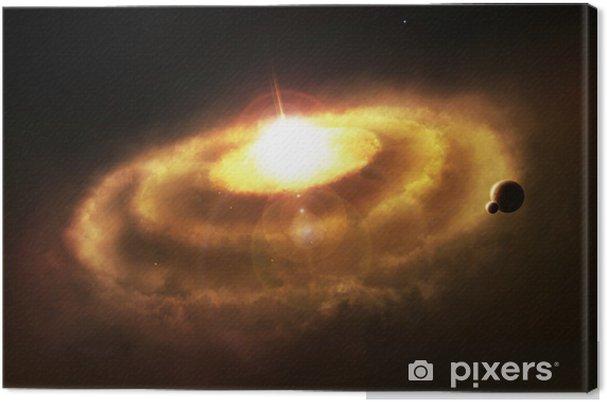 Cuadro en Lienzo Nebulosa del anillo de la galaxia, cataclismo espacio - Temas