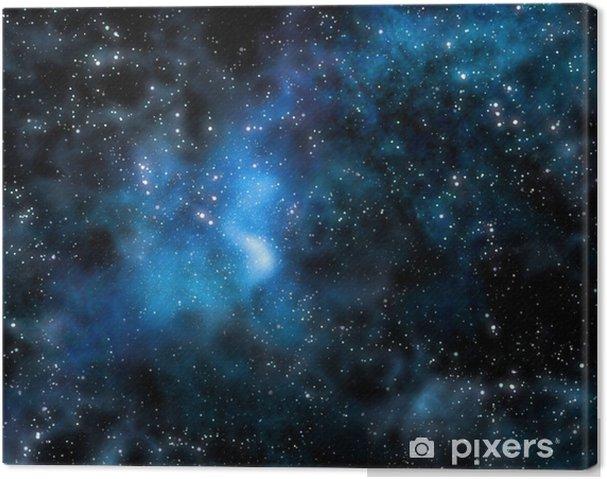 Cuadro en Lienzo Nebulosa estelar profundo espacio exterior y la galaxia - Estilos