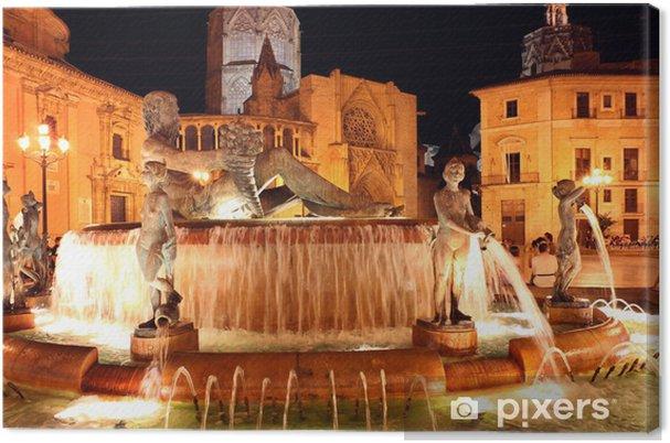 Cuadro en Lienzo Neptunbrunnen Valencia - Europa