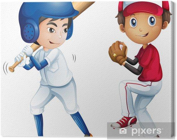 Cuadro en Lienzo Niños jugando béisbol • Pixers® - Vivimos para cambiar