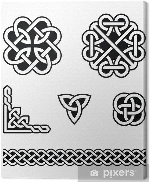 Cuadro en Lienzo Nudos celtas patrones - vector • Pixers® - Vivimos ...