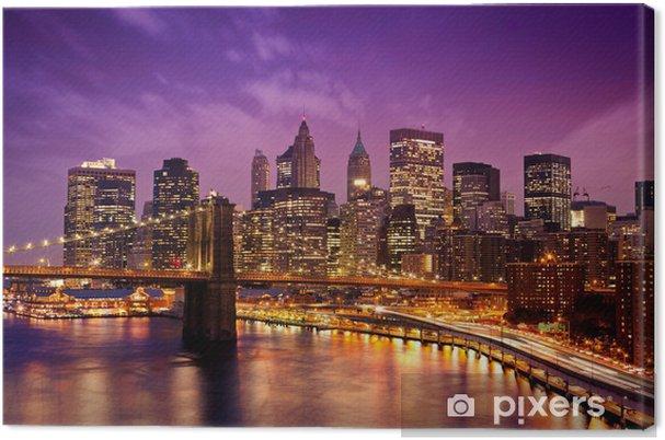 Cuadro en Lienzo Nueva York Manhattan Puente de Brooklyn -