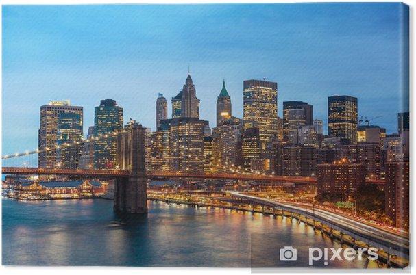 Cuadro en Lienzo Nueva York Manhattan Puente de Brooklyn - Temas