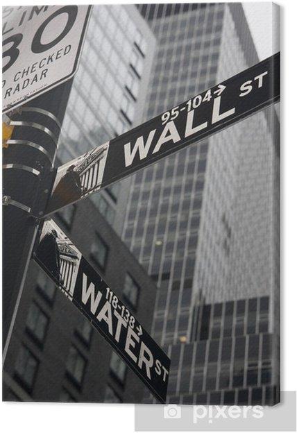 Cuadro en Lienzo Nueva York - Wall Street - Finanzas