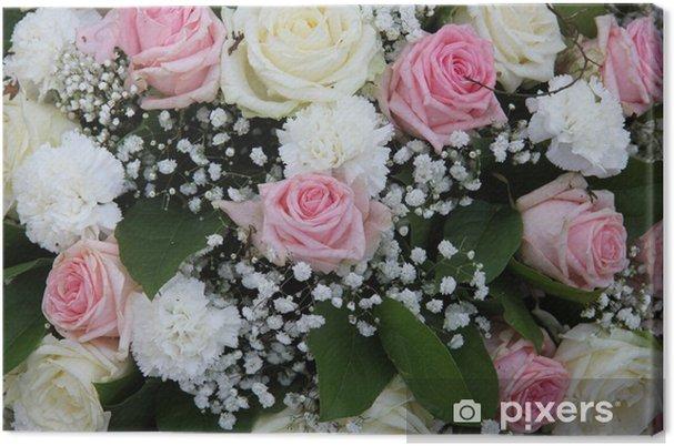 Cuadro En Lienzo Nupcial Arreglos Florales En Rosa Y Blanco