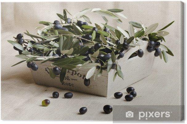 Cuadro en Lienzo Objeto de oliva - Aceitunas