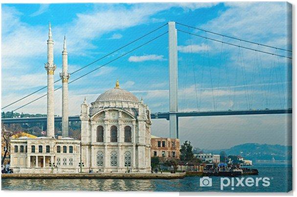 Cuadro en Lienzo Ortakoy mezquita y puente Bósforo, Estambul, Turquía. - Temas