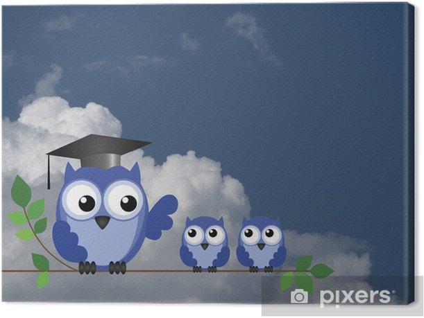 Cuadro en Lienzo Owl maestro y los alumnos - Temas