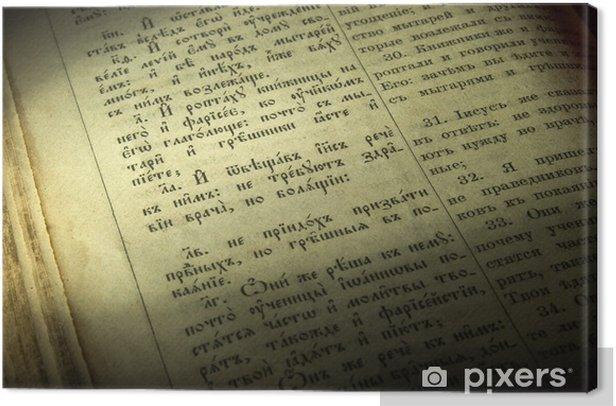 Cuadro en Lienzo Página Biblia vieja - Lectura