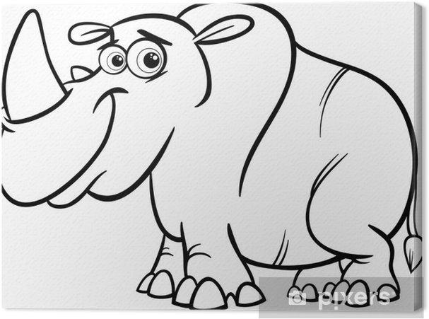 Cuadro en Lienzo Página para colorear de dibujos animados de ...