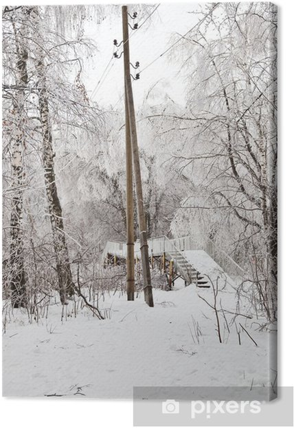 Cuadro en Lienzo Paisaje de invierno - Estaciones