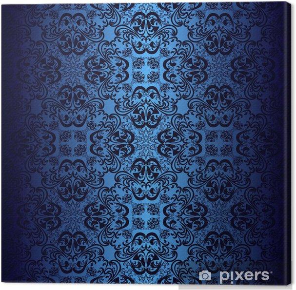 Cuadro en Lienzo Papel tapiz de color azul oscuro. - Fondos