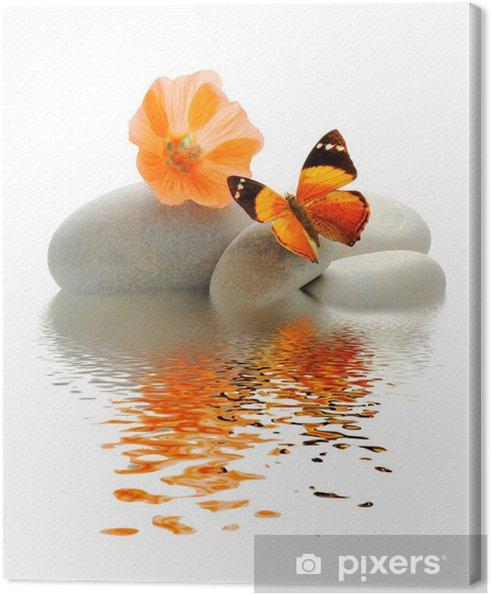 Cuadro en Lienzo Papillon galet -