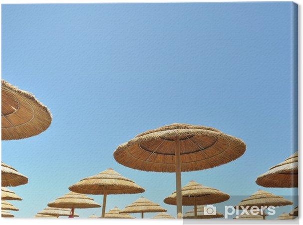 nuevo producto super servicio procesos de tintura meticulosos Cuadro en Lienzo Paraguas de bambú con el cielo azul