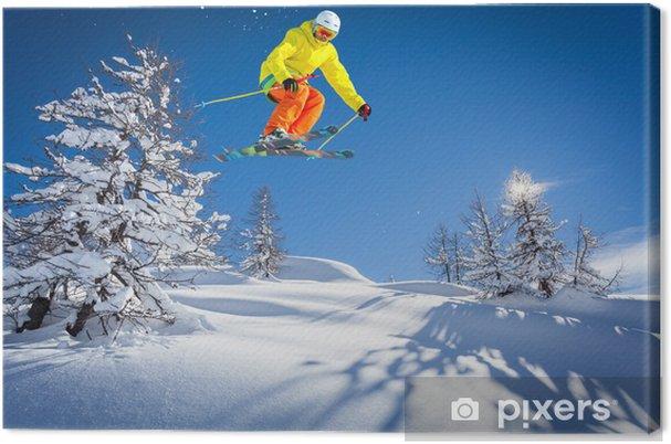 Cuadro en Lienzo Paraíso de esquí - Eqsuí