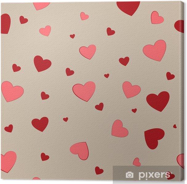 77b9d7f15 Cuadro en Lienzo Pareja de corazón de patrones sin fisuras. diseño de fondo  gráfico de moda. textura abstracta con estilo moderno. plantilla colorida  para ...