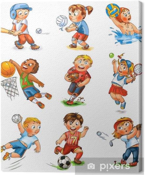 Cuadro en Lienzo Participación de los niños en el deporte - Niños