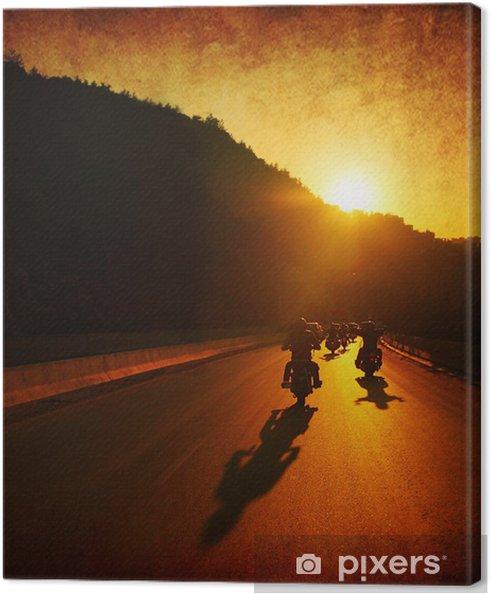Cuadro en Lienzo Paseo en moto - Cielo