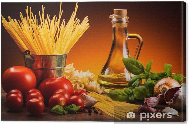 Cuadro en Lienzo Pasta y verduras frescas - Temas