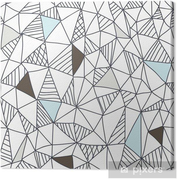 Cuadro en Lienzo Patrón abstracto sin fisuras garabato - Negocios