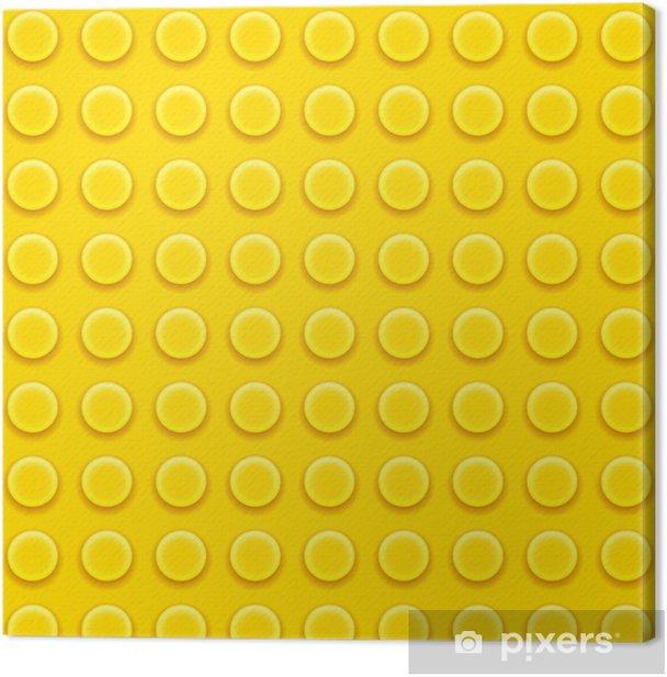 Cuadro en Lienzo Patrón de bloques de Lego -