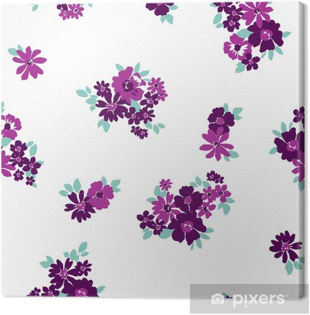 Cuadro en Lienzo Patrón de flor inconsútil de papel tapiz - Plantas y flores