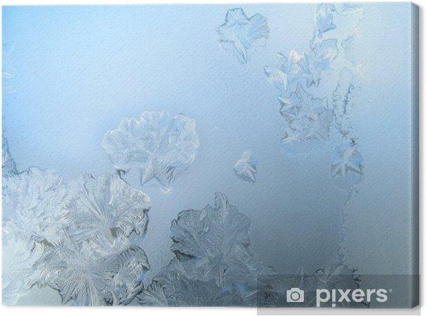 Cuadro en Lienzo Patrón de heladas en un cristal de ventana de invierno - Recursos gráficos