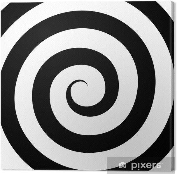 Cuadro en Lienzo Patrón de la hipnosis espiral. Ilusión óptica. Vector - Temas