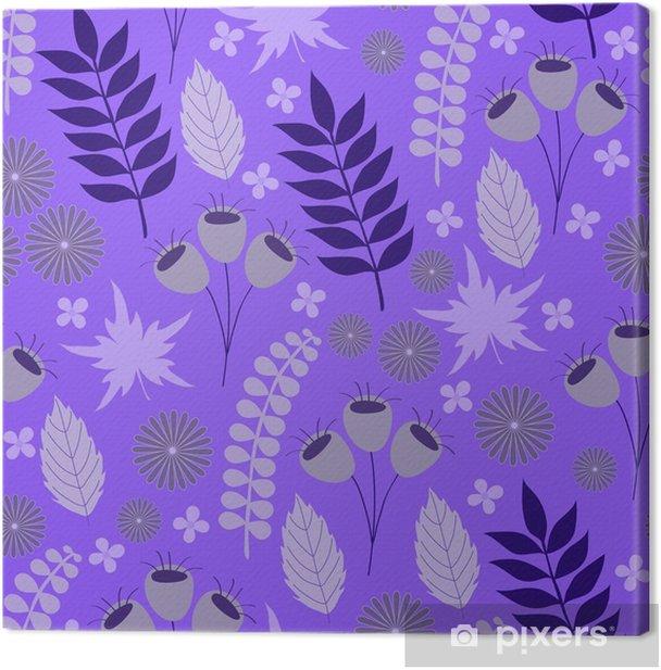 Cuadro en Lienzo Patrón floral lila - Recursos gráficos