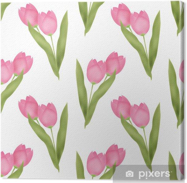 Cuadro en Lienzo Patrón floral sin fisuras - Fondos