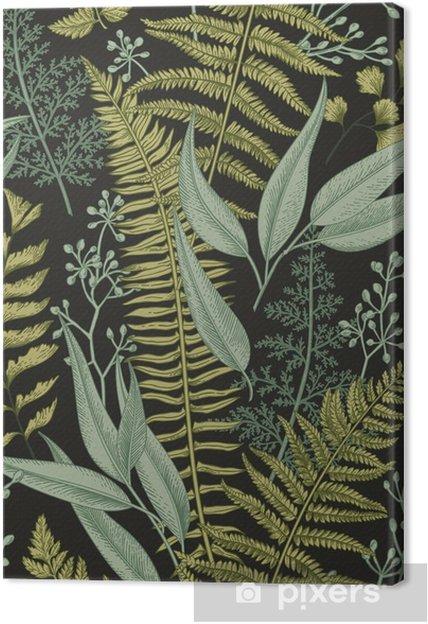 Cuadro en Lienzo Patrón floral transparente en estilo vintage. - Recursos gráficos