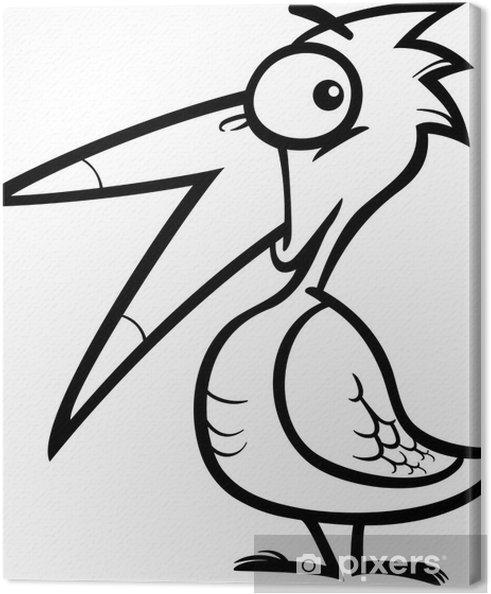 Cuadro en Lienzo Pequeña caricatura de aves de libro para colorear ...