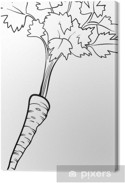 Cuadro en Lienzo Perejil vegetales de dibujos animados de libro para ...