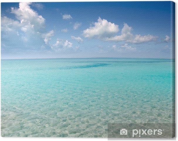 Cuadro en Lienzo Perfecto de la playa de arena blanca de agua turquesa - Mar y océano