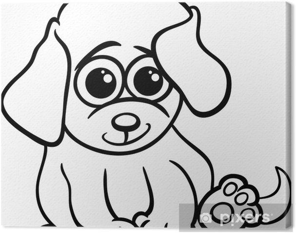 Cuadro en Lienzo Perrito bebé para colorear de dibujos animados ...