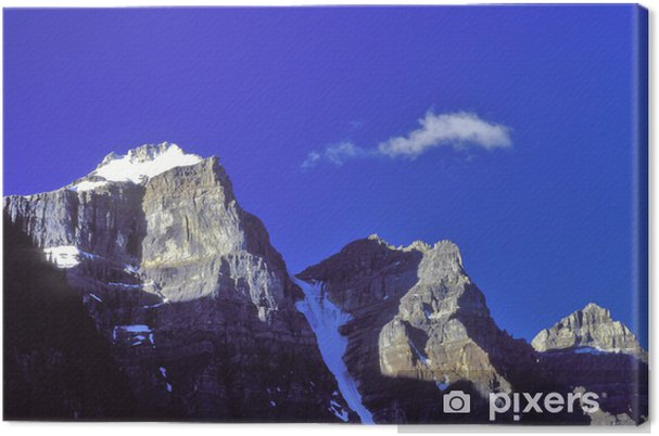 Cuadro en Lienzo Picos de la mañana - Montañas