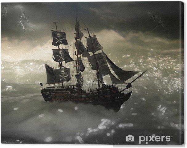 Cuadro en Lienzo Pirata - Barcos