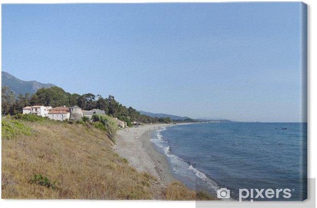 Cuadro en Lienzo Plage de prunete, côte est de la Corse - Vacaciones