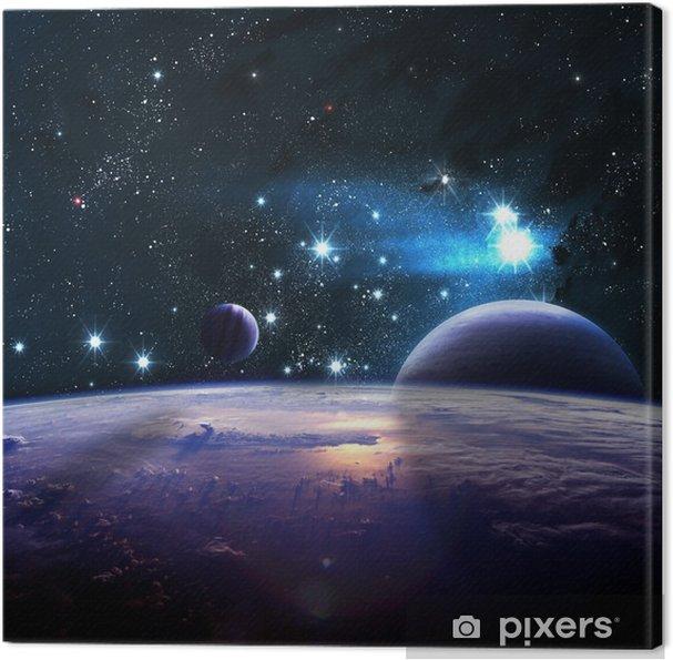 Cuadro en Lienzo Planetas más de las nebulosas en el espacio - Universo
