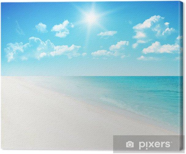 Cuadro en Lienzo Playa de fondo. - Cielo