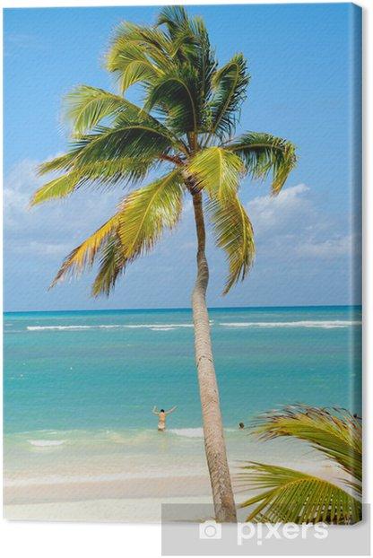 Cuadro en Lienzo Playa del Caribe - Temas