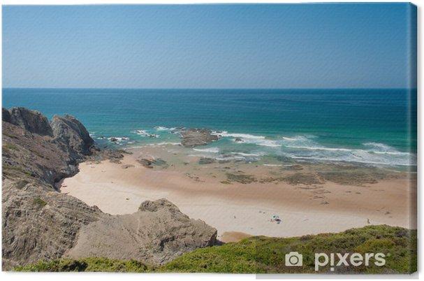 Cuadro en Lienzo Playa en la costa del Algarve, en Portugal el verano - Vacaciones