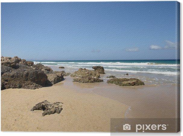 Cuadro en Lienzo Playa Esquinzo - Fuerteventura - Agua