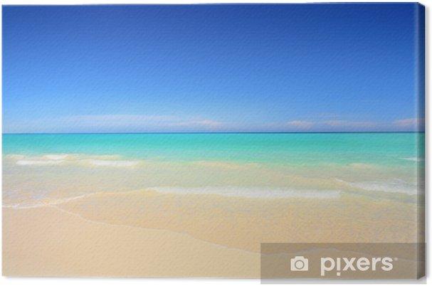 Cuadro en Lienzo Playa idílica con arena blanca y aguas azul turquesa - Temas